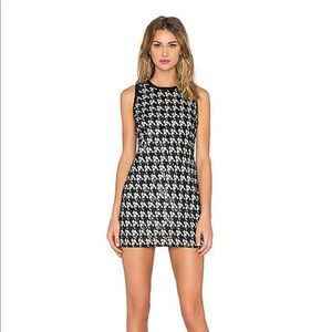 Rachel Zoe zadie houndstooth halter dress s2